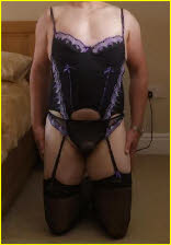 Sissy cuckold Rob in lingerie