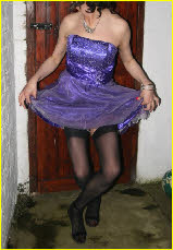 Sissy poses in princess dress for dominant wife who loves humiliation